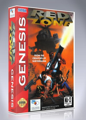 red zone retro game cases