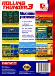 Sega Genesis - Rolling Thunder 3 (back)