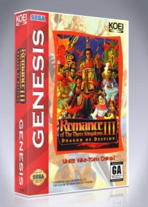 Sega Genesis - Romance of the Three Kingdoms III: Dragon of Destiny