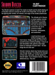 Sega Genesis - Shadow Dancer (back)
