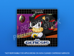 Sega Genesis - Shadow the Hedgehog Label