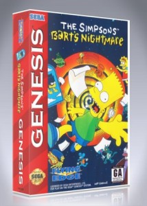 Sega Genesis - Simpsons, The: Bart's Nightmare