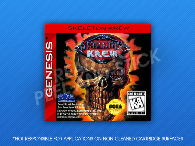 Skeleton Krew Fan Made Sega Genesis Game Crew