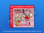 Sega Genesis - Sonic the Hedgehog 2: Pink Edition Label