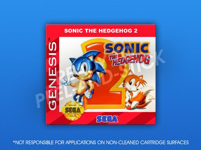 Sega Genesis Sonic The Hedgehog 2 Label Retro Game Cases