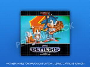 Genesis - Sonic The Hedgehog 2 Label