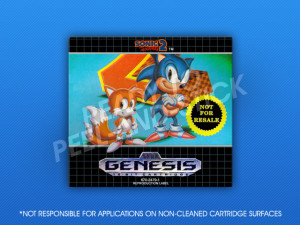 Genesis - Sonic The Hedgehog 2 (Not For Resale) Label