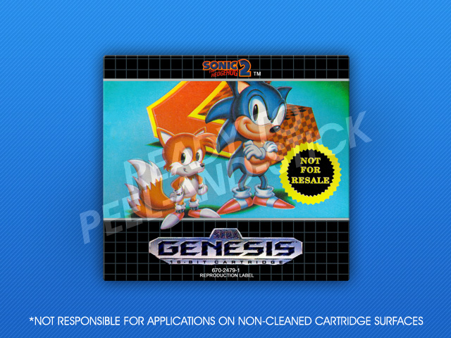 Sega Genesis Sonic The Hedgehog 2 Not For Resale Label Retro Game Cases