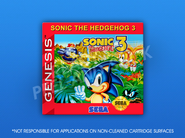 Sega Genesis Sonic The Hedgehog 3 Label Retro Game Cases