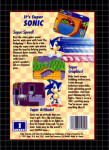 Genesis - Sonic The Hedgehog (back)