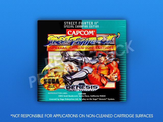 Sega Genesis Street Fighter Ii Special Champion Edition Label
