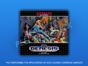 Sega Genesis - Streets of Rage Label