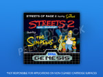 Genesis - Streets of Rage 2 Starring The Simpsons Label
