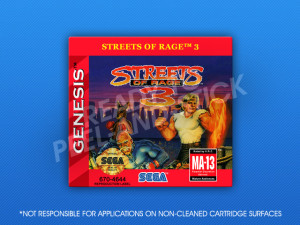 Genesis - Streets of Rage 3 Label