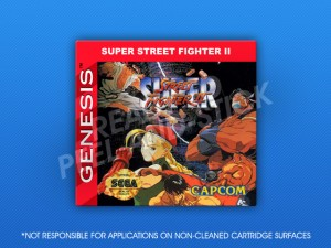 Sega Genesis - Super Street Fighter II Label