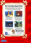 Sega Genesis - Taz-Mania (back)