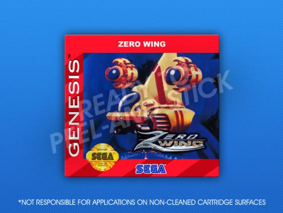 Sega Genesis - Zero Wing Label