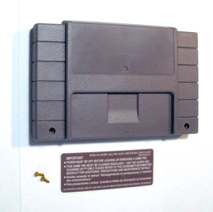 Solid Gray SNES Cartridge Shell