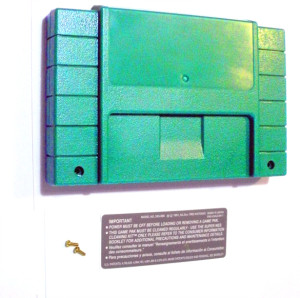 Solid Green SNES Cartridge Shell
