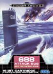 Mega Drive - 688 Attack Sub (front)