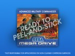 Mega Drive - Advanced Military Commander Label
