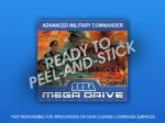 Mega Drive - Advanced Military Commander Label