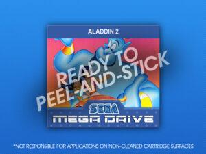 Mega Drive - Aladdin 2 Label