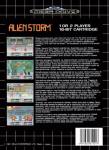 Mega Drive - Alien Storm (back)