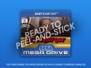 Mega Drive - Baby's Day Out Label