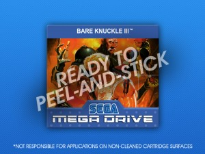 Mega Drive - Bare Knuckle III Label