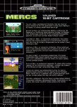 Mega Drive - Mercs (back)