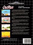 Mega Drive - Outrun (back)
