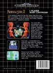 Sega Mega Drive - Phantasy Star II (back)