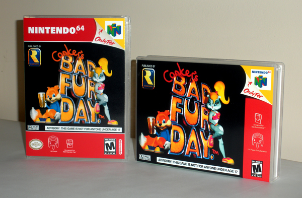 Conker's Bad Fur Day in both horizontal and vertical design