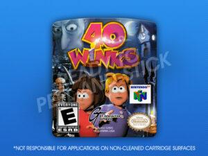 N64 - 40 Winks Label