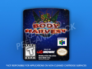 N64 - Body Harvest Label