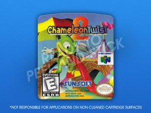 N64 - Chameleon Twist 2 Label