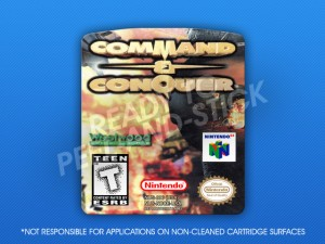 N64 - Command & Conquer Label