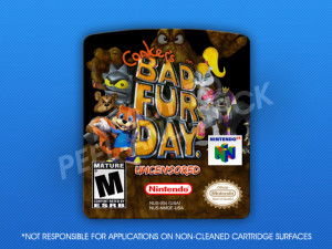 N64 - Conker's Bad Fur Day Uncensored Label