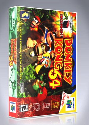 N64 Donkey Kong 64 Custom Game Case Retro Game Cases