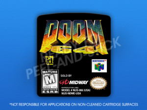N64 -Doom 64 Label