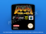 N64 - Doom 64 (PAL) Label