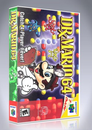 n64 dr mario 64 custom game case retro game cases