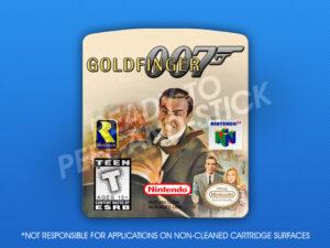 N64 - Goldfinger 007 Label