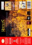 N64 - Hercules: The Legendary Journeys (back)