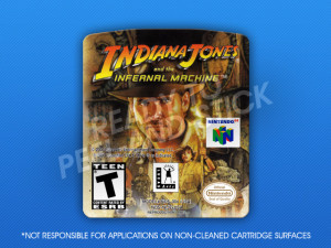 N64 - Indiana Jones and the Infernal Machine Label