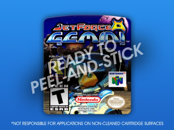 N64 - Jet Force Gemini Label