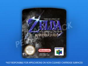 N64 - Legend of Zelda: Ocarina of Time Master Quest (PAL) Label