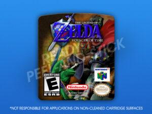 N64 - Legend of Zelda: Voyager of Time Label