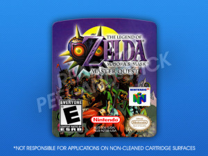 N64 - Legend of Zelda: Majora's Quest Master Quest Label